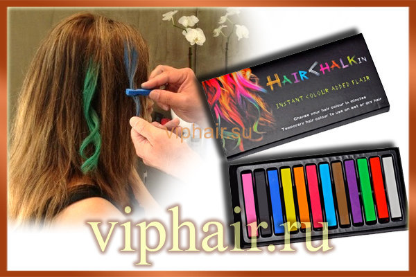 Мелки для волос Hair Chalk in 12